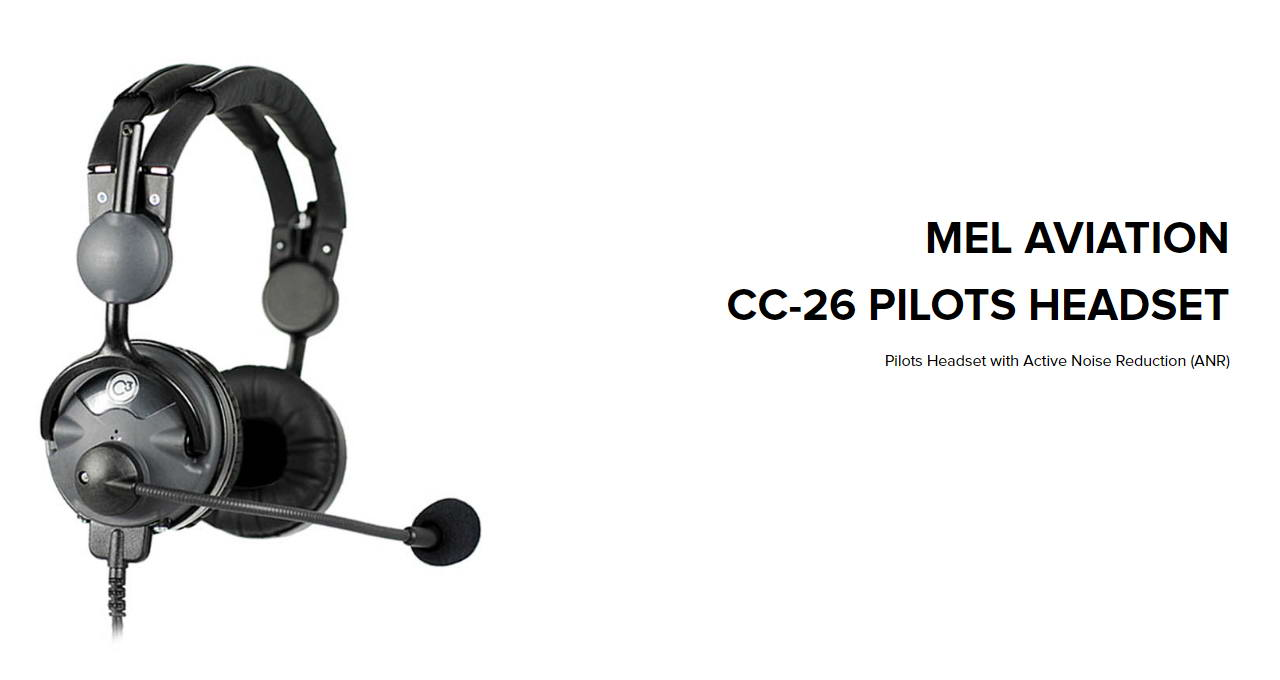 The Mel Aviation CC-26 pilots headset